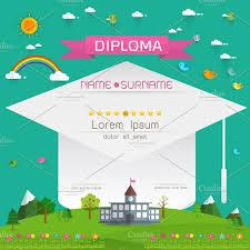certificate kids diploma flyer templates creative market certificate kids diploma flyers