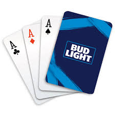 Bud Light Cards Bud Light Iconic Blue Label Playing Cards The Beer Gear Store