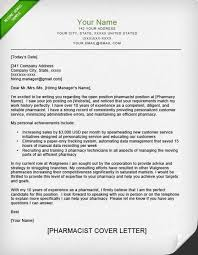 Pharmacist Cover Letter Sample Resume Genius With Sample Cover