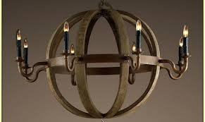 restoration hardware wine barrel chandelier knock off reclaimed