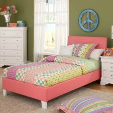 Metal Twin Bed Frame White Kids Bedroom Decor Small Space Furniture ...
