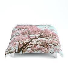 cherry blossom duvet cover pink tree