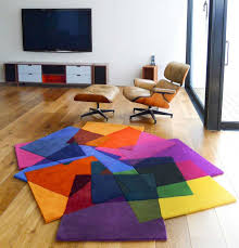colorful area rugs to match the interior — interior home design