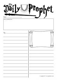 Harry Potter Newspaper Template Daily Prophet Newspaper Writing Frames Sb11993 Sparklebox