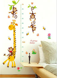 Monkey Growth Chart Wall Shop Generic Giraffe And Monkey Growth Chart Wall Sticker