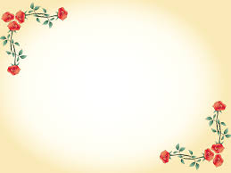 Ppt Flowers Red Flowers Border Powerpoint Templates Border Frames Flowers