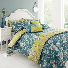 dreams ds teal lime green delesta superking cotton duvet set