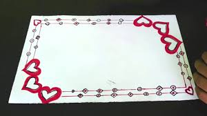 Awesome Heart Designs Awesome Heart Border Design For Kids Border Design On