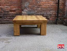 plank pine chunky coffee table