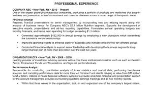 Finance Analyst Resume Financial Analyst Resume Examples Business