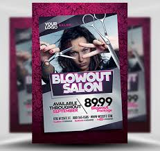 Hair Salon Flyer Templates Blowout Hair Salon Flyer Template Flyerheroes