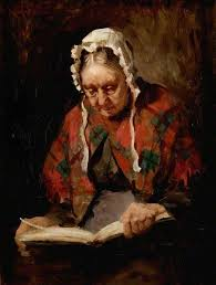 old lady reading