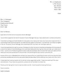 Insurance Claims Manager Cover Letter Example Icover Org Uk