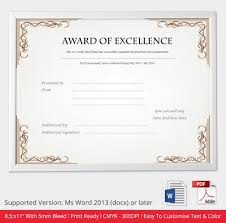 Certificate Of Excellence Template Word 100 Images of Excellence Award Certificate Template Free netpei 96