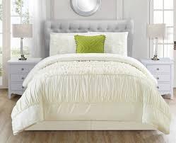9 piece jervis ivory bed in a bag w 500tc cotton sheet set cf03209 klc