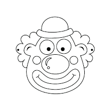 clown coloring pages printable free face skittles circus tent pictures colouring