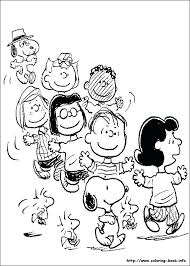 Charlie Brown Christmas Tree Coloring Pages Snoopy And Peanuts