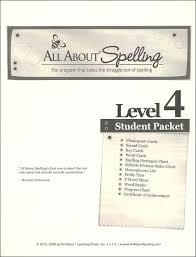 All About Spelling Phonogram Chart All About Spelling Level 4 Student Material Packet