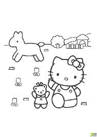 Coloriage Hello Kitty La Ferme Dans La Cat Gorie Hellokitty
