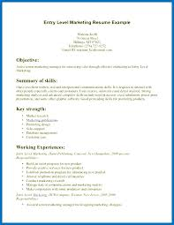 Data Entry Resume Objective Examples Best Of Marketing Entry Level Resume Armnico
