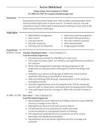 Resume Tips for Loss Prevention Supervisor