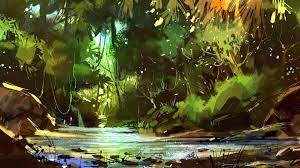 Forest Painting Wallpapers - Wallpaper Cave
