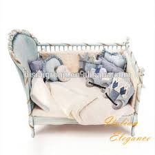 Blue nursery furniture Coastal Blue Antique Rococo Ornate Solid Wood Reproduction Baby Crib In Gold And Blue Classic Italian Nursery Alibaba Antique Rococo Ornate Solid Wood Reproduction Baby Crib In Gold And