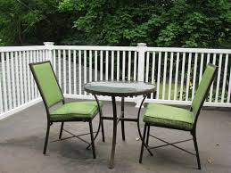 Furniture: Attractive Small Balcony Design With Decorative Plants And Metal  Furniture Including 2 Green Chairs