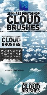 Cloud Photoshop Brushes 25 Hi Res Cloud Brushes Best Cloud Photoshop Brushes Best