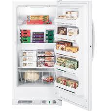 Ge Upright Freezer Manual Gear 141 Cu Ft Manual Defrost Upright Freezer Fum14svrww Ge