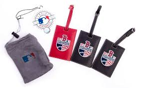 details about new mlb boston red sox champion leather luggage tags set of 3 free
