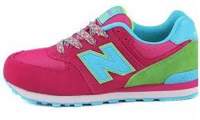 new balance kids sneakers. new balance kl574pgg pink green aqua womens big kids sneakers f