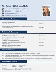 Curriculum Formato Resume Samples Elaboration Of A Resume In German