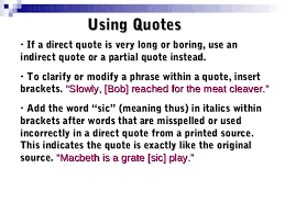direct qoute quotations