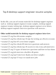 Resume Example Desktop Support Engineer Cover Letter Resume Cover