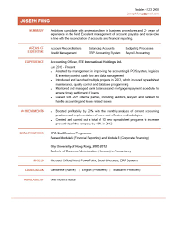 Sample Cv For An Accountant Perfect Resume Format