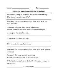 Create-handwriting-worksheets & Englishlinx Com Metaphors ...