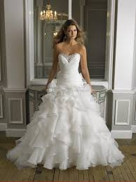 puffy wedding dresses 2016 drop waist fit flare organza cascading