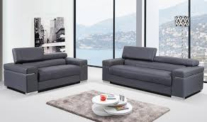 Leather Living Room Soho Leather Living Room Set In Grey Free Shipping Get Furniture