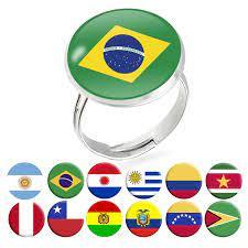 แห่งชาติธงธงอาร์เจนตินาบราซิลเปรูชิลีโบลิเวียโคลอมเบียซูรินาเมโบลิเวียปารากวัยแหวนเครื่องประดับ  Anillos|Rings