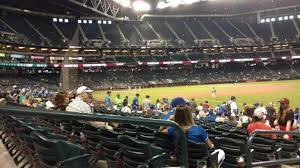 Chase Field Section 111 Home Of Arizona Diamondbacks