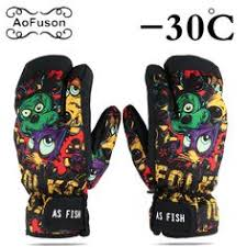<b>New</b> Cartoon <b>Thicken Warm Ski</b> Gloves for Motorcycle Waterproof ...