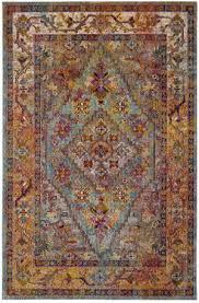 safavieh crystal crs507a light blue orange area rug