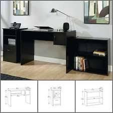 mainstays 3 piece home office bundle black. Mainstays 3 Piece Home Office Bundle Black. Student Desk Dorm Workstation Table Black