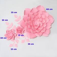 Diy Giant Paper Rose Flower Diy Giant Paper Flowers Artificial Rose Fleurs Artificielles
