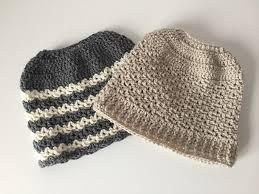 Free Crochet Pattern For Messy Bun Hat Simple 48 Free Messy Bun Hat Crochet Patterns Make A Ponytail Beanie