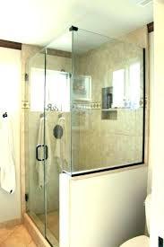 glass shower half wall astounding door and bathroom panel custom walls
