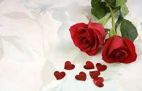two red roses and heartshaped picture