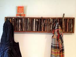 Dark Wood Coat Rack Accessories Astounding Image Of Decorative Dark Brown Wooden Twig 92