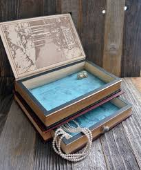 diy jewelry storage antique books repurposed as elegant jewelry boxes do it yourself crafts 12 simple wooden jewelry box